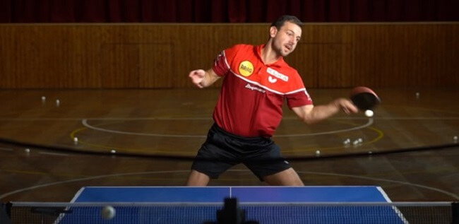 Practice Forehand Strokes in table tennis