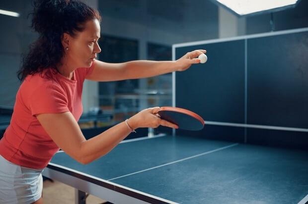 Practice Ping Pong - You can also fold the table in half to form a shield