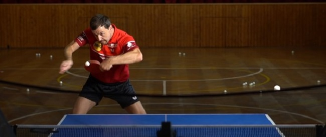 Practice backhand strokes in table tennis